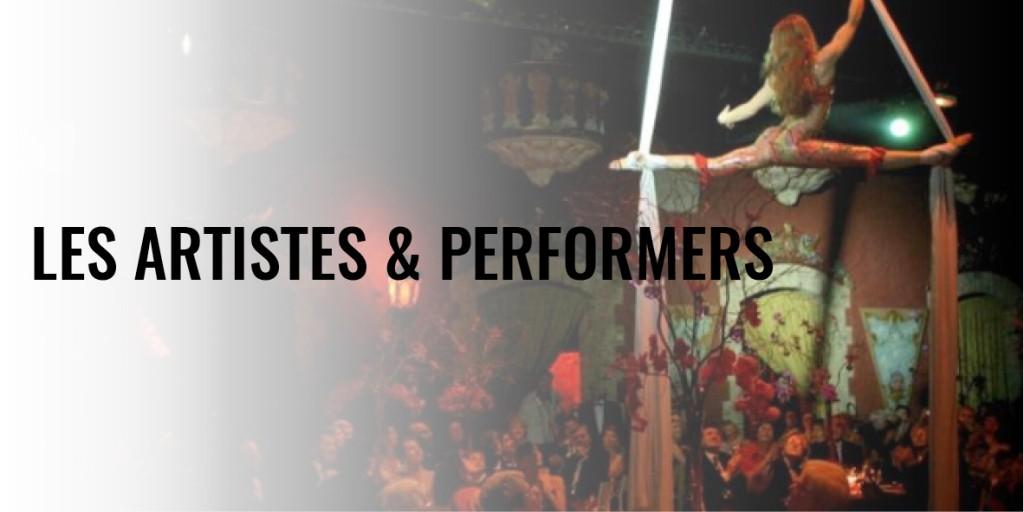 L'animation par les artistes et performers