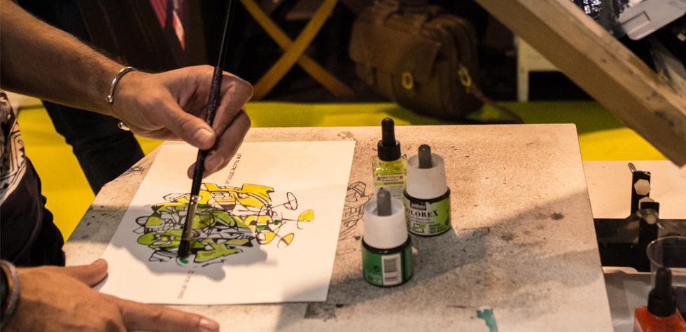 Animation art graphique : sérigraphie