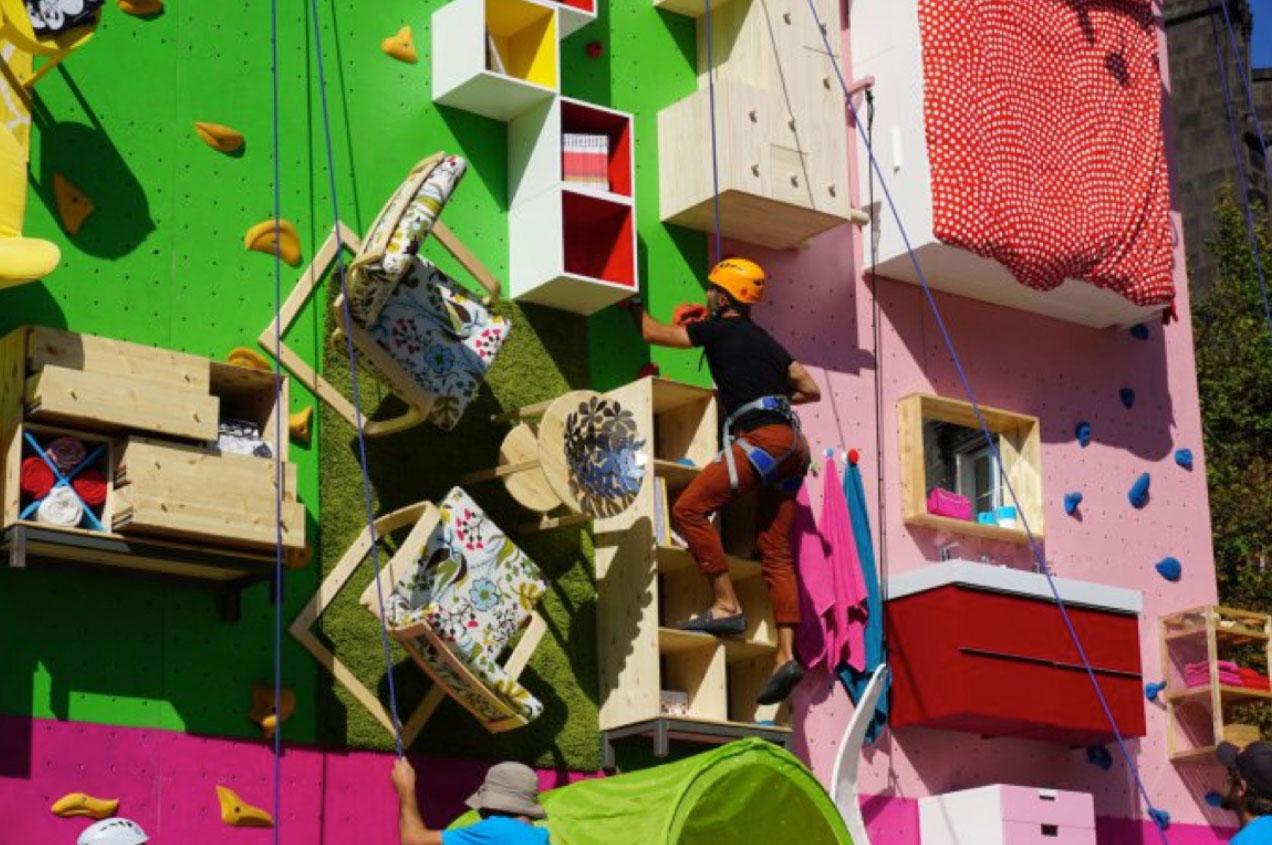 Mur d'escalade Ikea
