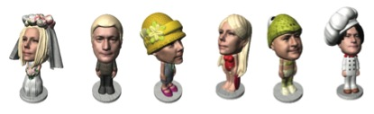 Personnages imprimés grâce à l'imprimante 3D