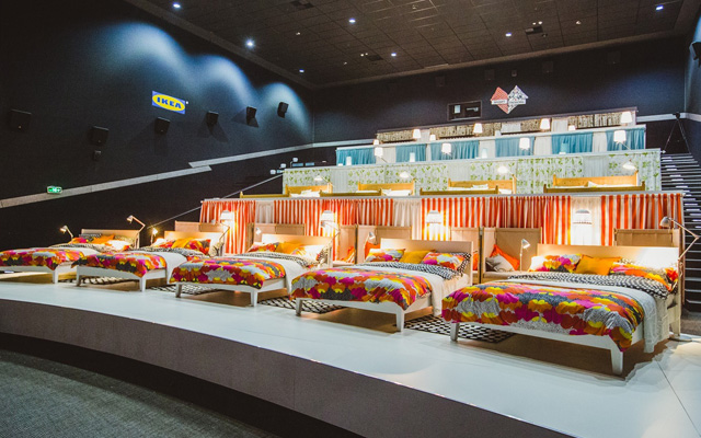 Salle de cinéma par Ikea-communication événementielle