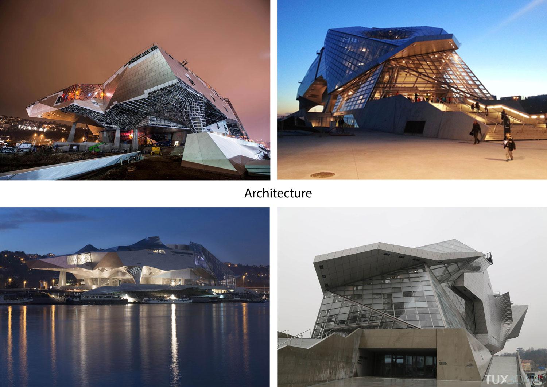 Architecture du musée des Confluences de Lyon