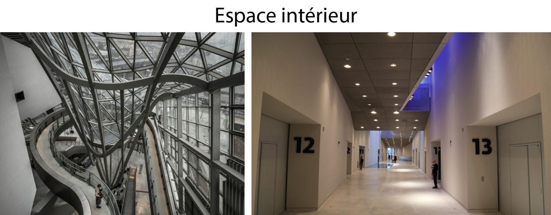 Intérieur du musée des Confluences de Lyon