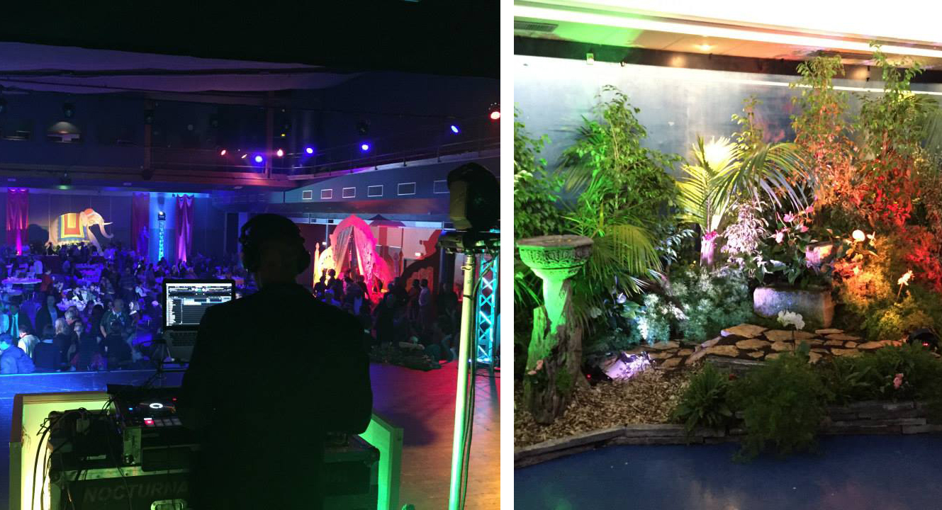 DJ et décoration florale de la soirée thème bollywood