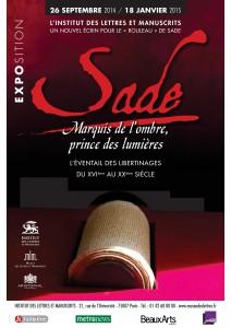 """Affiche de l'exposition """"Sade, marquis de l'ombre et prince des lumières"""""""