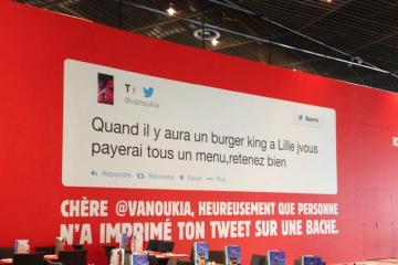 Communication pour l'ouverture du Burger King de Lille