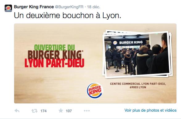 Ouverture d'un Burger King à Lyon