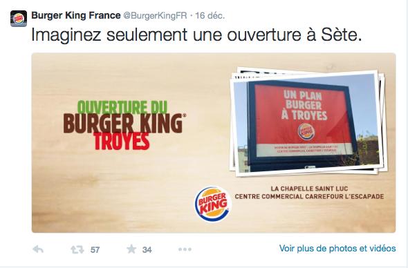 Ouverture d'un Burger King à troyes