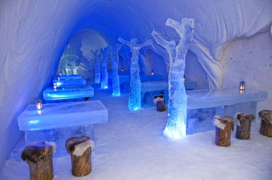 snow restaurant, finlande