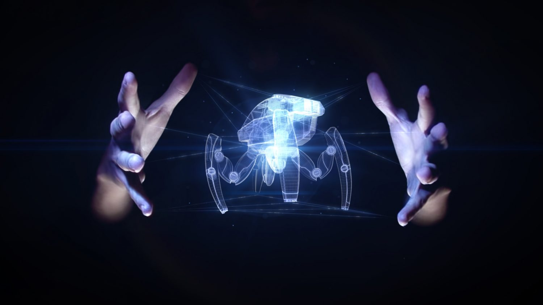 Hologramme araignée