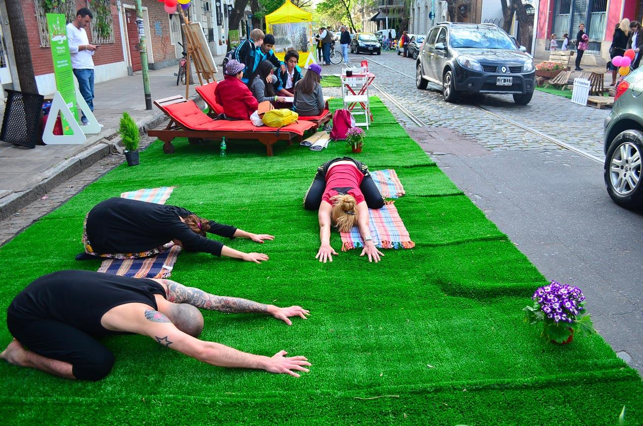 yoga au parking day