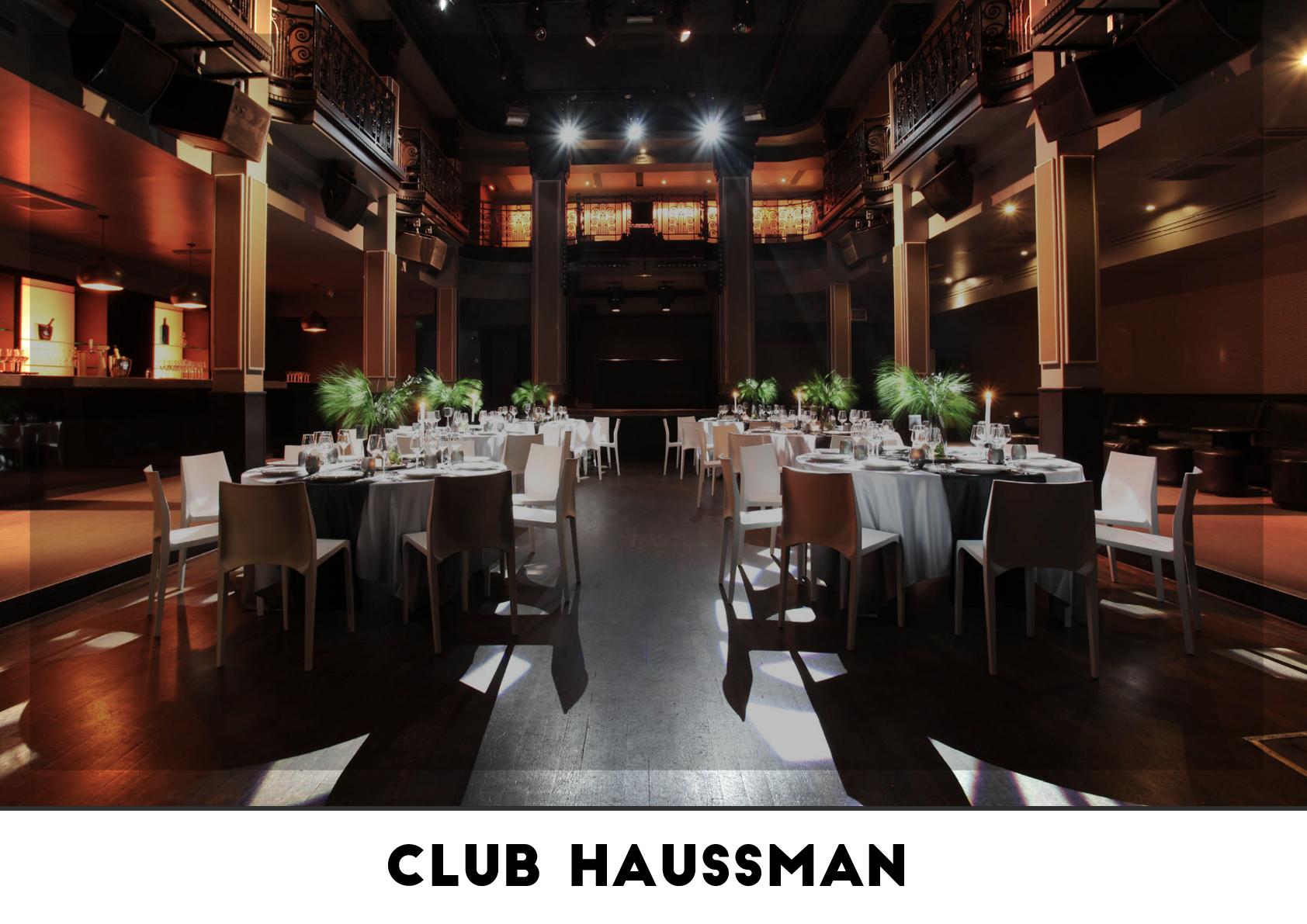Lieu événementiel - Club Haussman