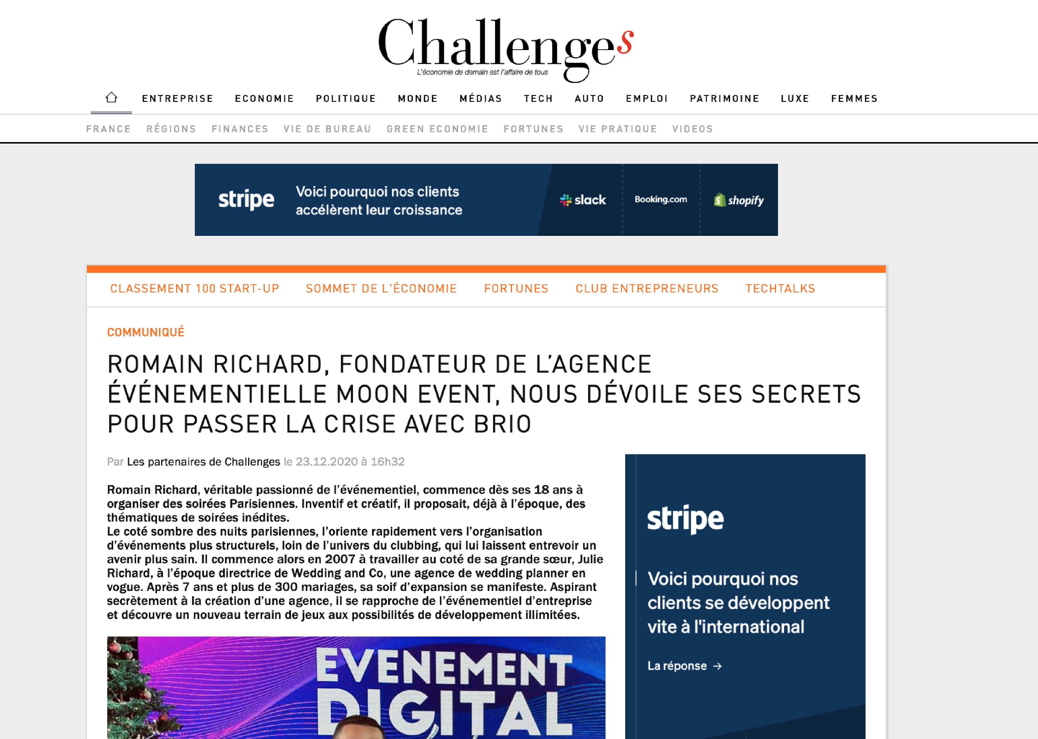 Relation Presse - Challenges