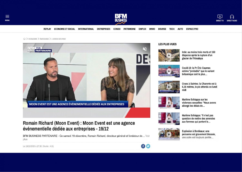 Relation Presse - BFM Business