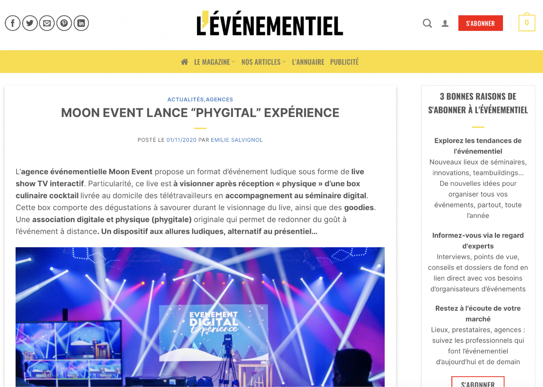 Relation Presse - L'Événementiel Magazine