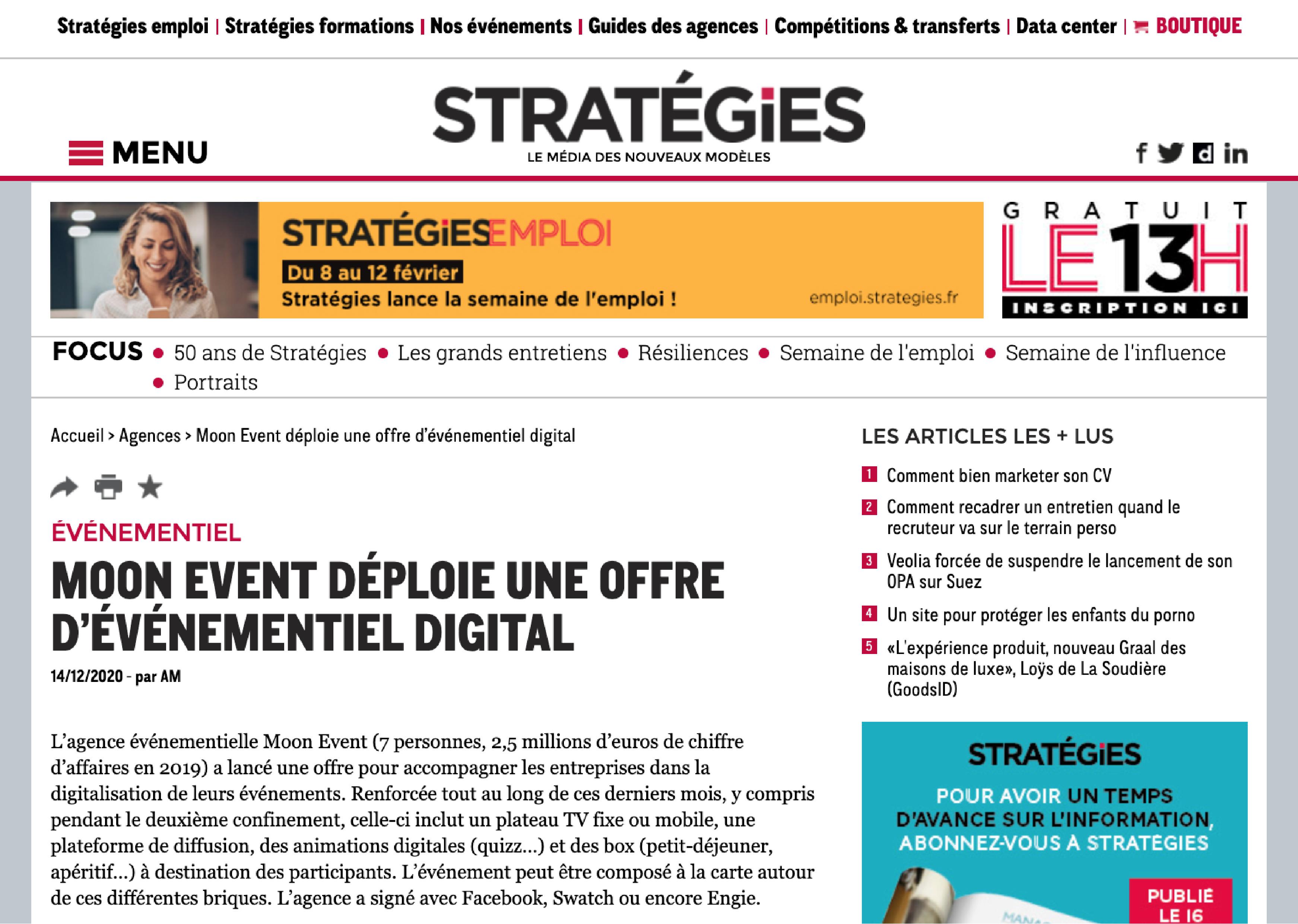 Relation Presse - Stratégies