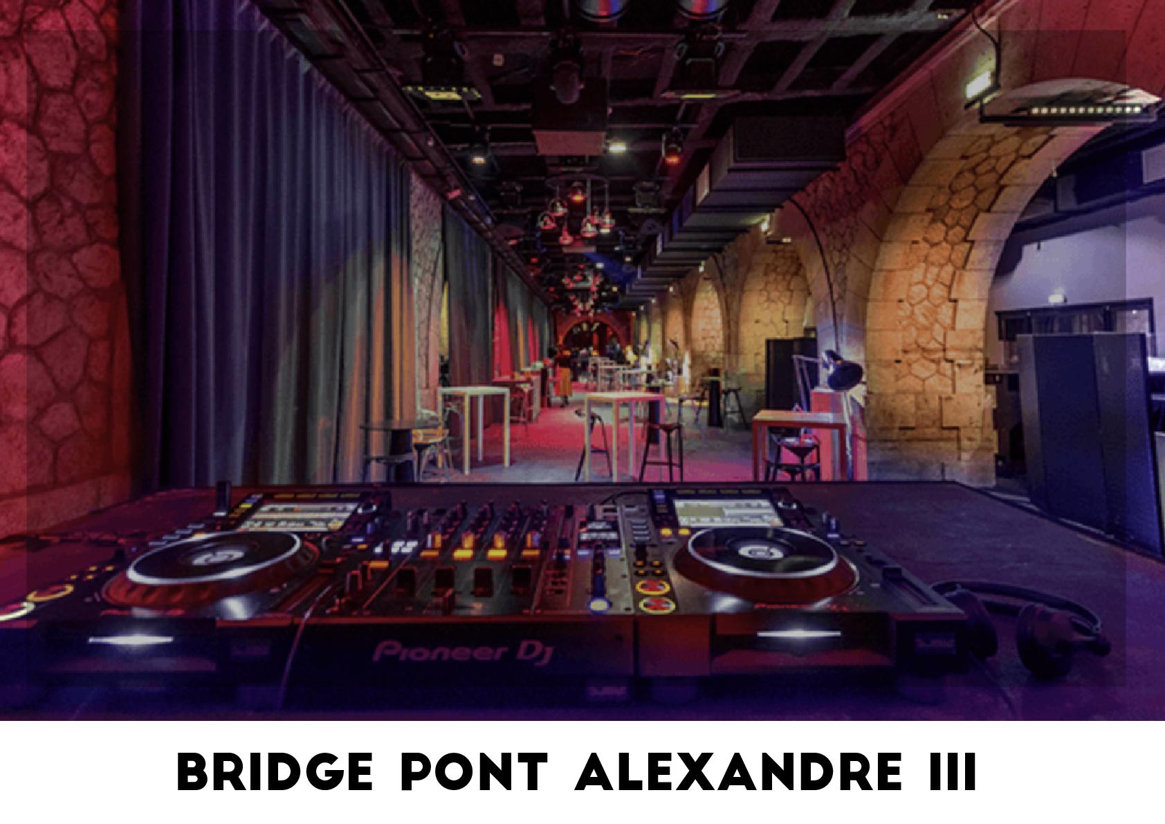 Lieu événementiel - Bridge Pont Alexandre III