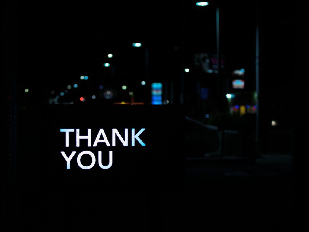 Remerciez votre audience